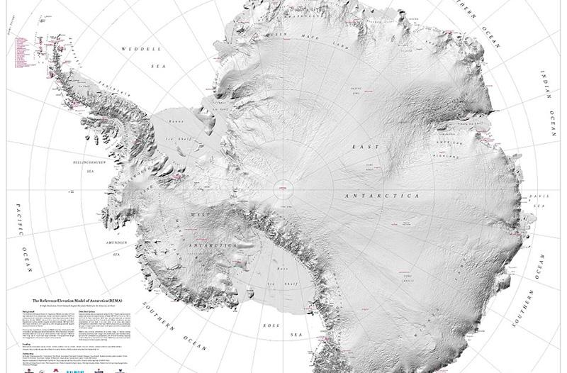 Создана самая подробная карта Антарктиды