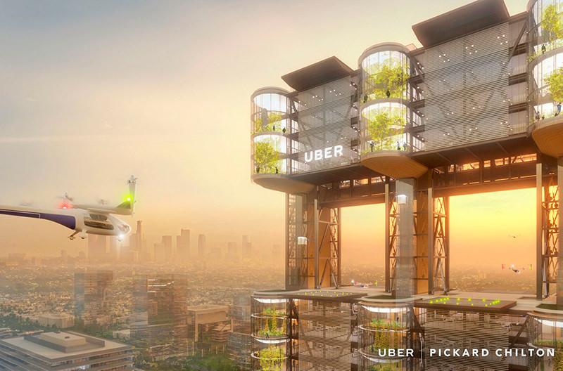 Uber рассказал в каких городах планирует запуск летающих такси