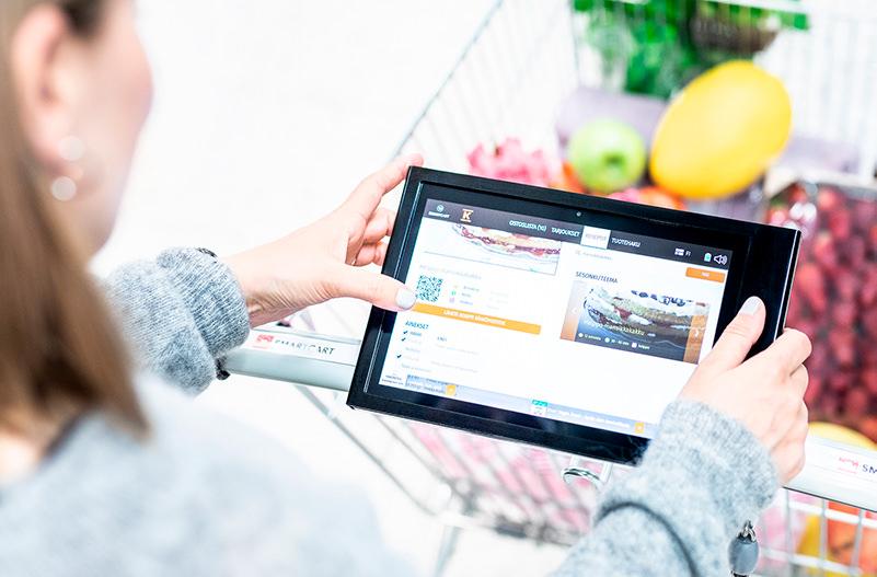 В супермаркетах Финляндии появились умные тележки
