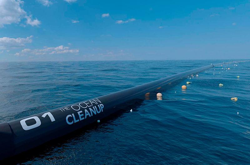 В Тихом океане установили систему для сбора пластика