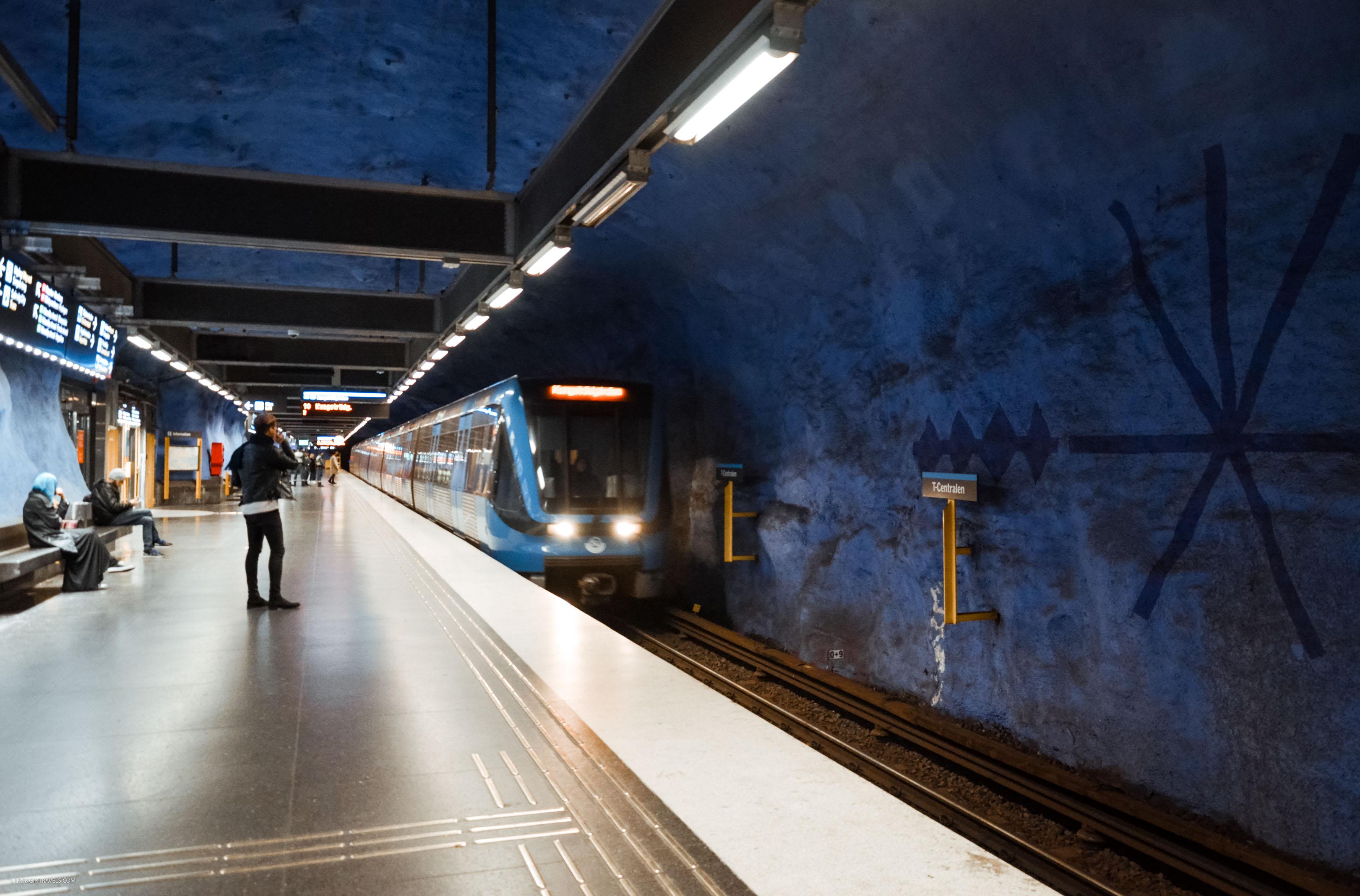 Станция T-Centralen. Арт-тур по метро Стокгольма: самые красивые станции