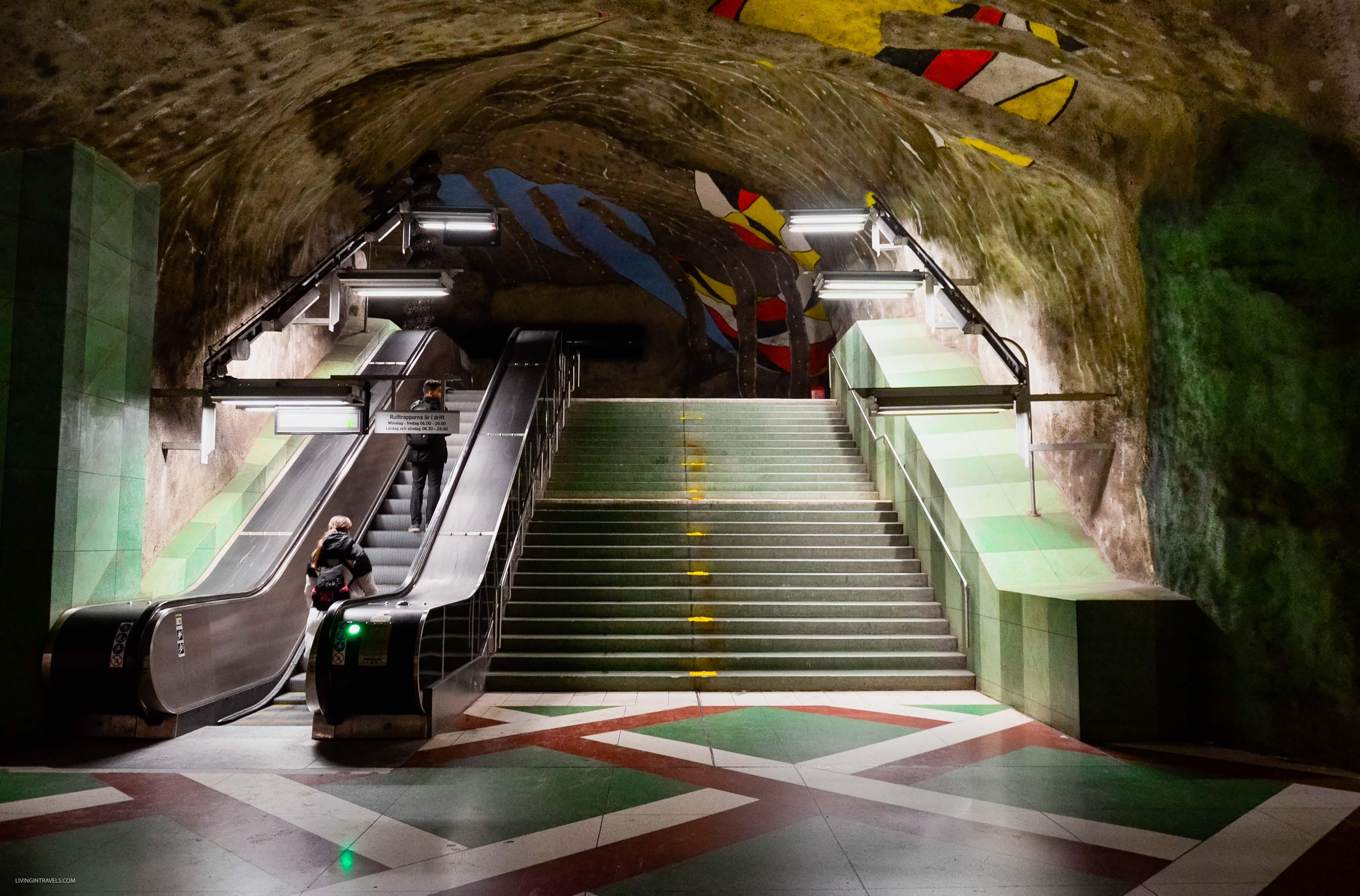 Станция Kungsträdgarden. Арт-тур по метро Стокгольма: самые красивые станции