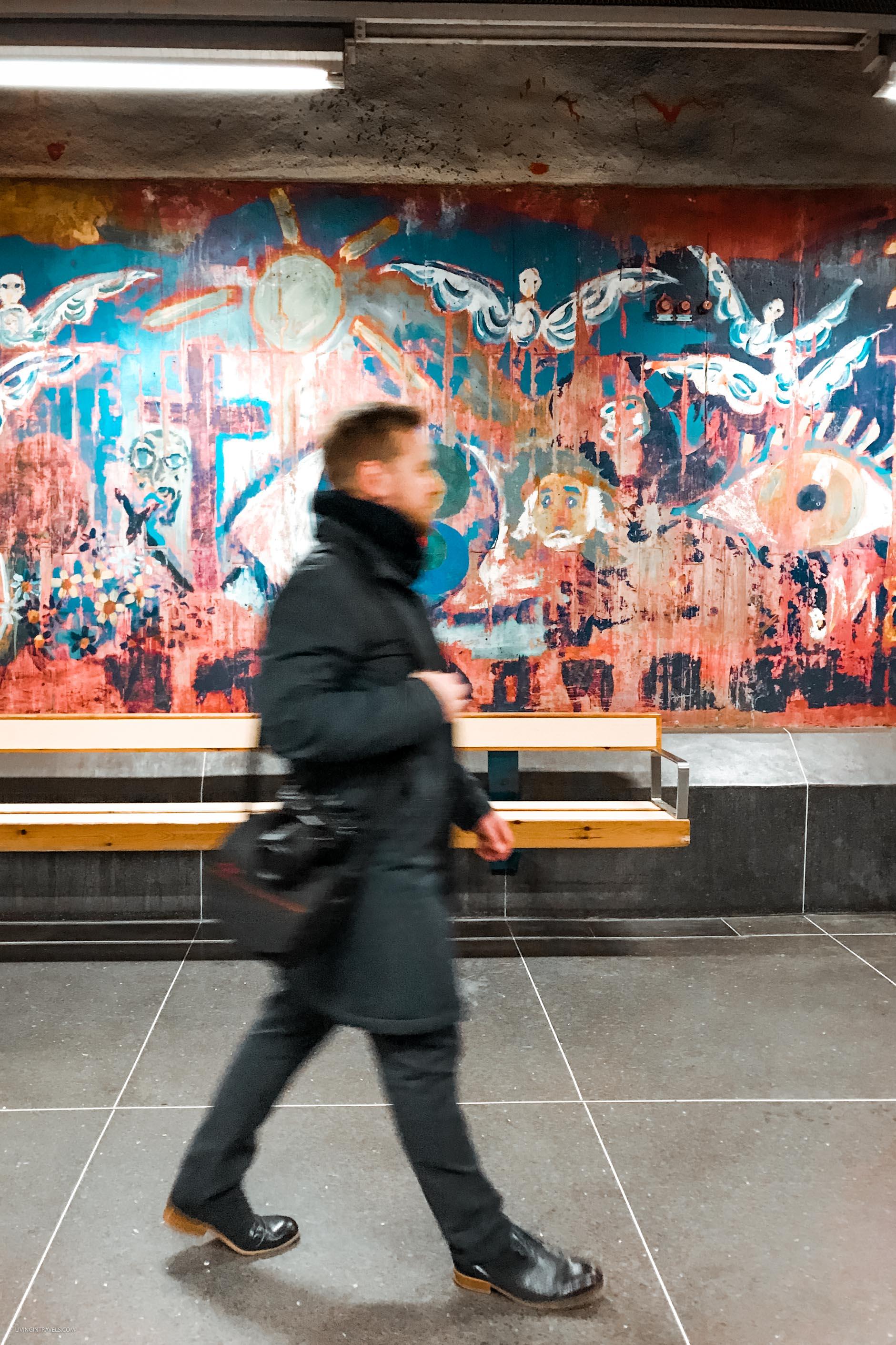 Станция Fridhemsplan. Арт-тур по метро Стокгольма: самые красивые станции