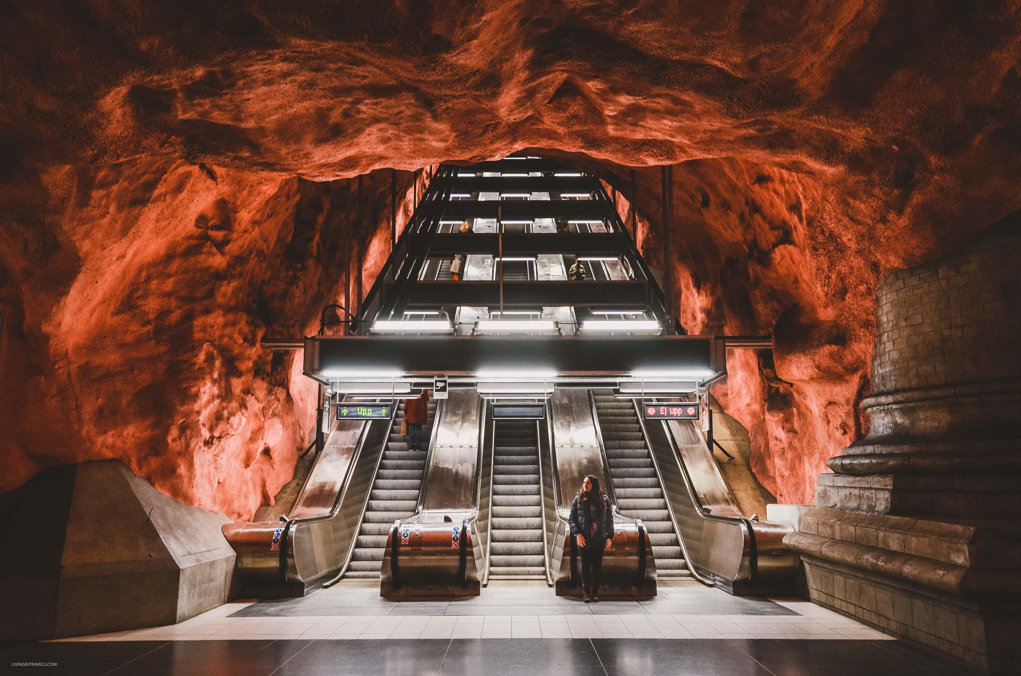 Станция Rådhuset. Арт-тур по метро Стокгольма: самые красивые станции