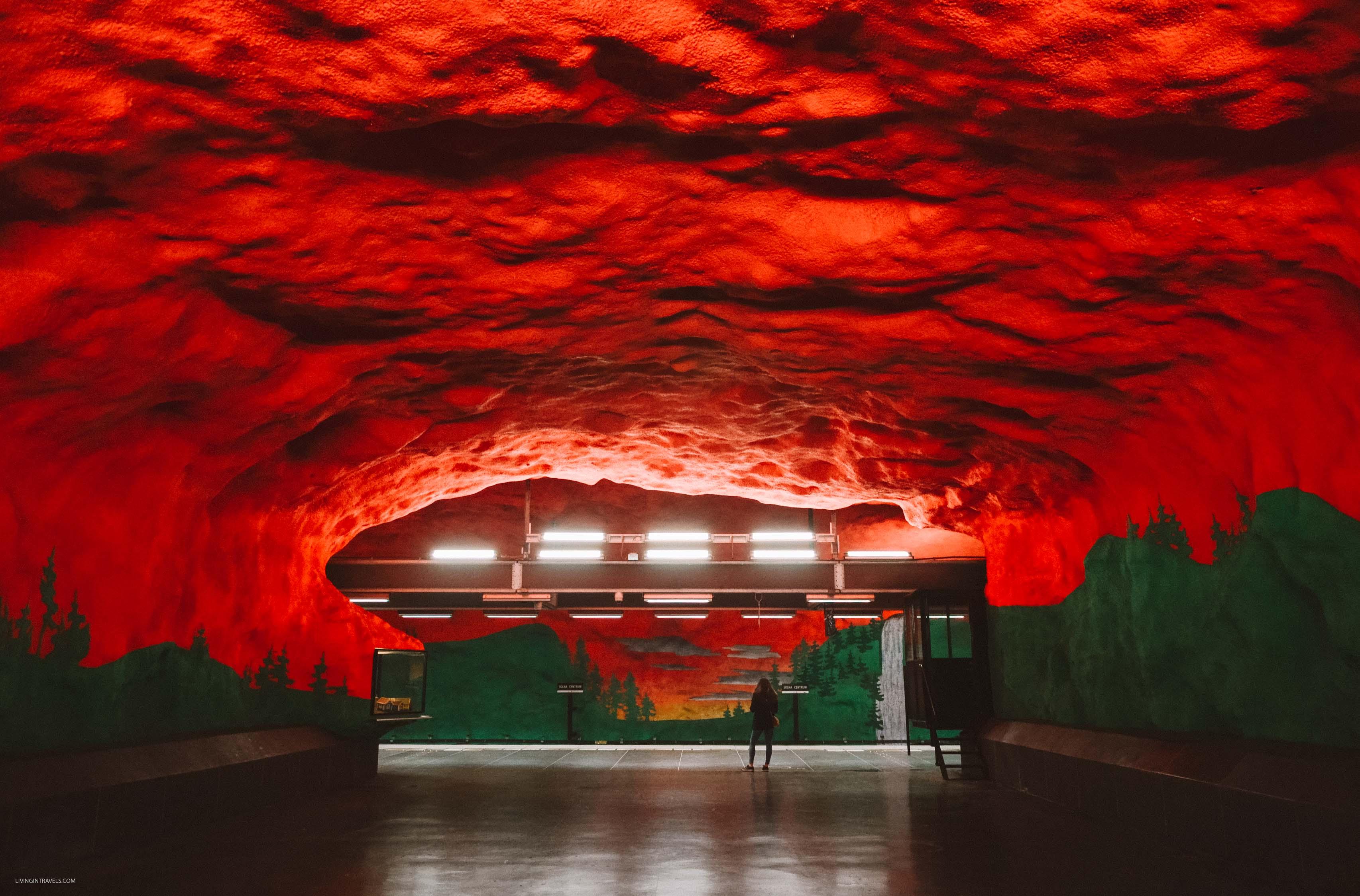 Станция Solna centrum. Арт-тур по метро Стокгольма: самые красивые станции