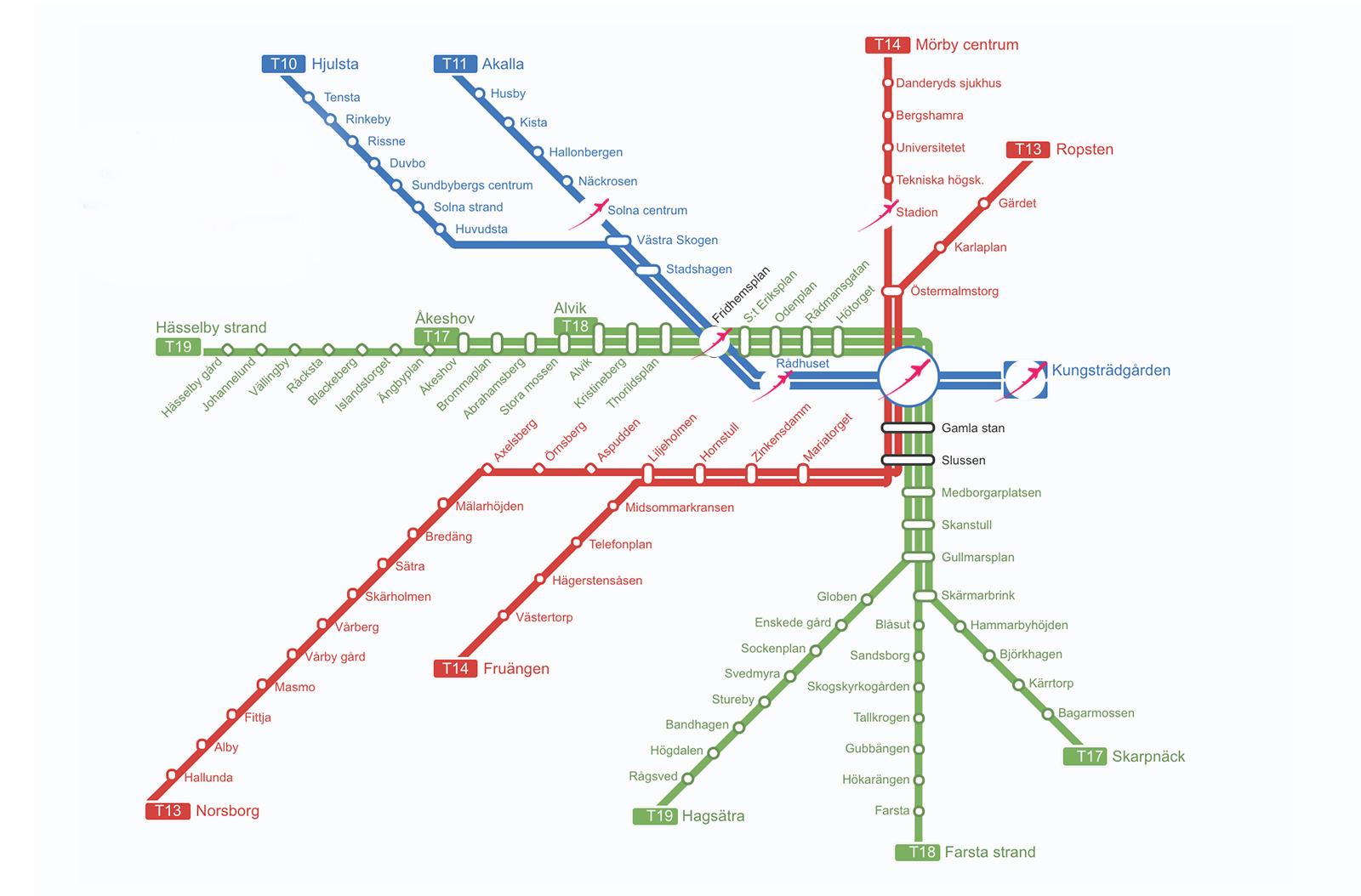 Арт-тур по метро Стокгольма: самые красивые станции