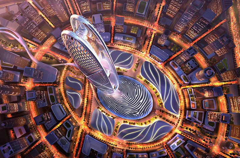 Новый небоскрёб в Дубае будет иметь форму отпечатка пальца шейха