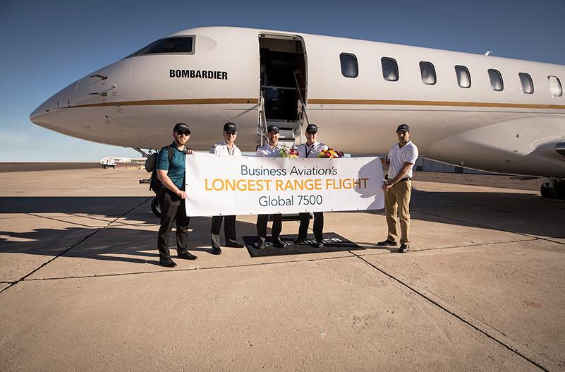 Установлен рекорд дальности полёта бизнес-джета