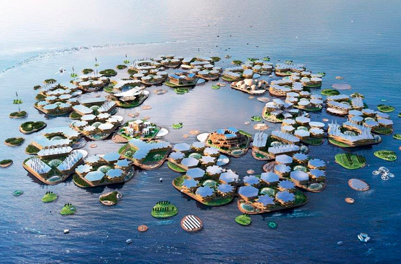 Разрабатываются плавучие города, которые спасут от наводнений