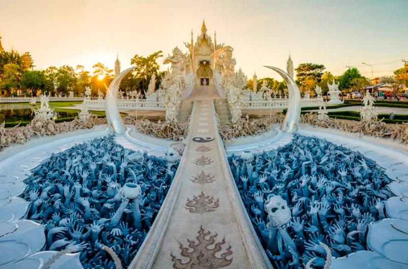 В тайском Белом храме пройдёт световое шоу