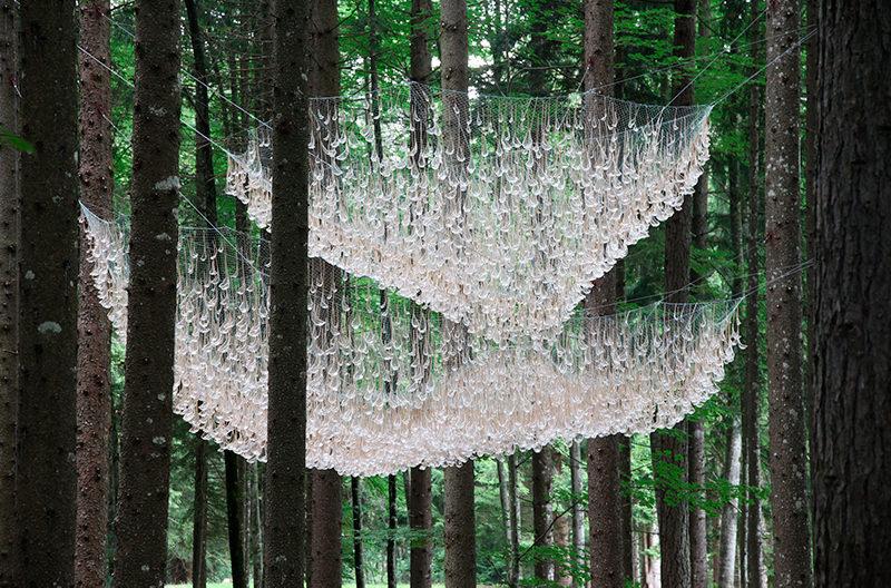 В итальянском лесу появилась необычная инсталляция