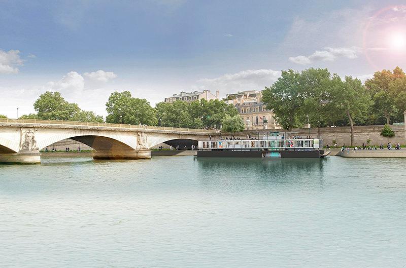 В Париже откроется первый в мире плавучий музей