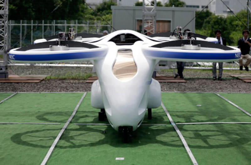 В Японии показали прототип летающего авто