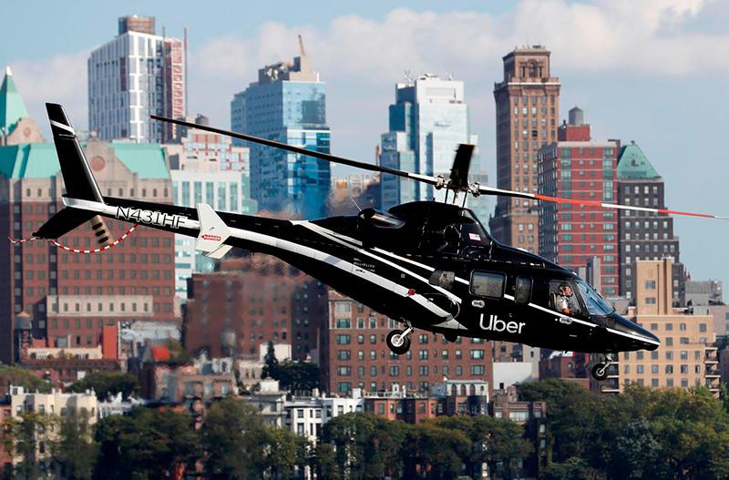 Пользователи Uber в Нью-Йорке теперь могут заказать вертолёт