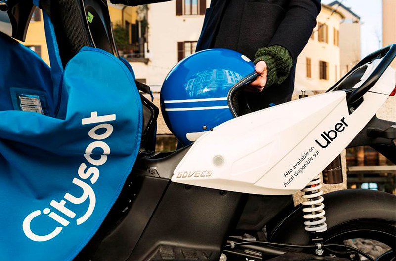 Uber запускает в Париже прокат мопедов