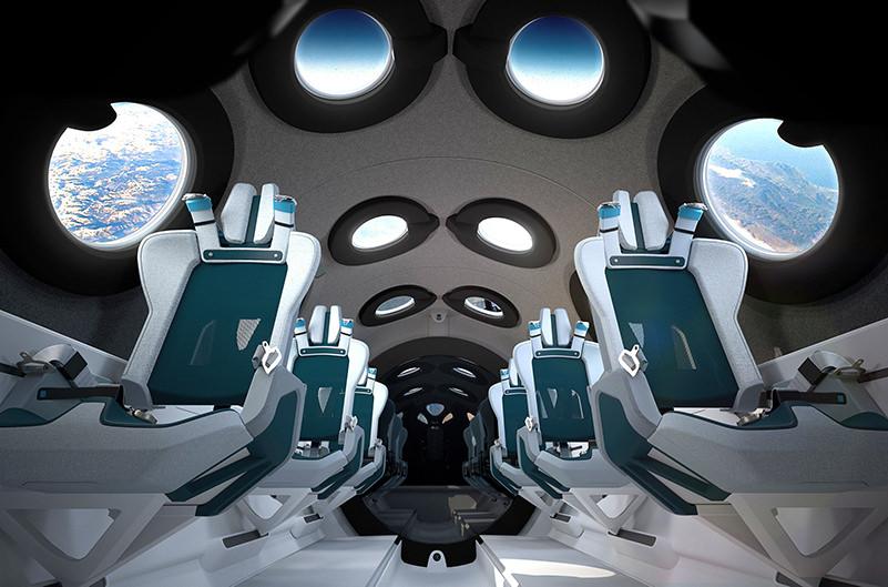 Virgin Galactic показала салон космического корабля для туристов