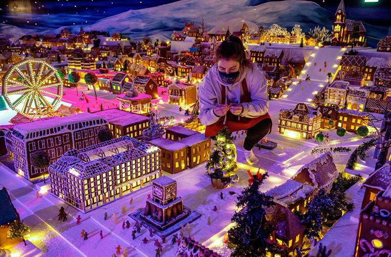В норвежском Бергене открылся самый большой пряничный городок